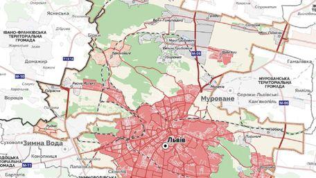 Подивіться, як насправді виглядає великий Львів. Карта дня