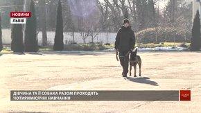Львів'янка пішла служити за контрактом у Нацгвардію заради свого собаки