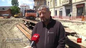Першу відремонтовану ділянку вулиці Богдана Хмельницького відкриють у серпні