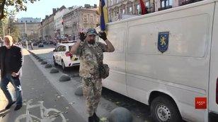 У Львові зустріли тіло загиблого на Донбасі вояка