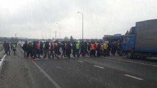 «Авто Євро Сила» заблокувала трасу Київ-Чоп  на Львівщині