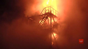 Масштабна пожежа на олійному заводі «Майола» біля Львова