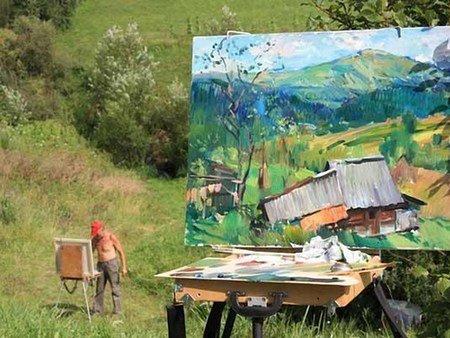 В селі Криворівні розпочався міжнародний пленер художників