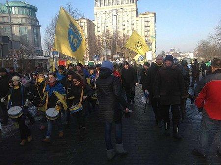 Євромайданівці завершили попереджувальний мітинг під парламентом