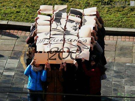 Львівські студенти провели флешмоб на честь Тараса Шевченка