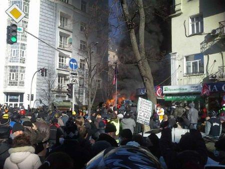 Активісти зайняли Будинок офіцерів на вул. Грушевського у Києві