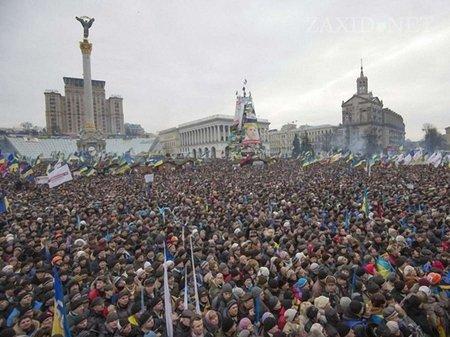 На 19:00 людей скликають на мітинг на Майдані Незалежності