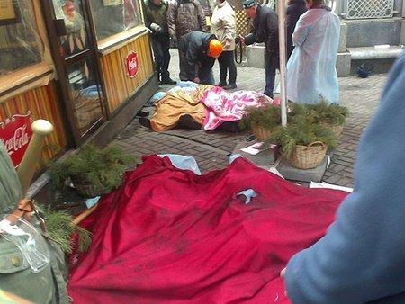 У Києві біля Жовтневого палацу загинув студент зі Львова (ВІДЕО)