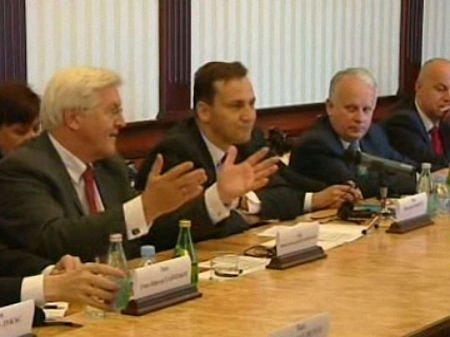 Європейські міністри вийшли від Януковича з похмурими обличчями