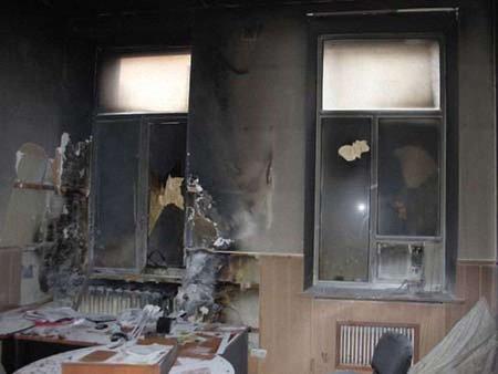 На Миколаївщині підпалили офіс «Батьківщини»