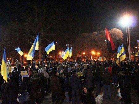 На вулиці Харкова вийшло понад 1000 людей відео