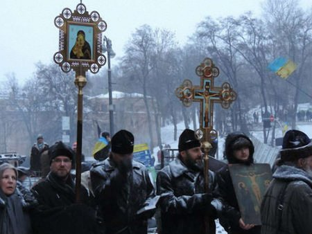 В Україні знімають фільм про священиків на Майдані