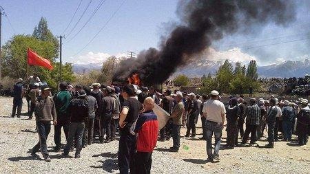 36 людей постраждали під час акцій протесту в Киргизстані