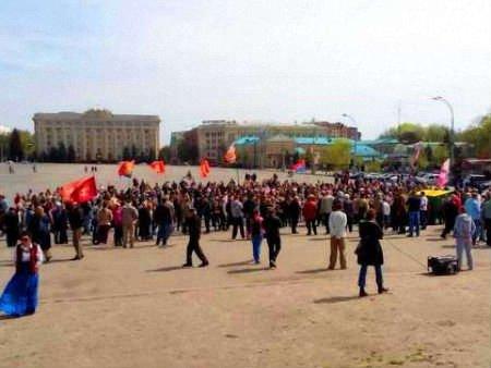 Сепаратисти зібралися на мітинг у центрі Харкова