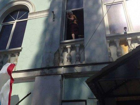 У Криму на Меджліс напали через український прапор