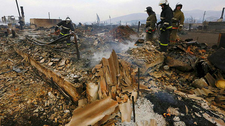 Площа лісових пожеж у азійські частині Росії досягла 38 тисяч гектарів