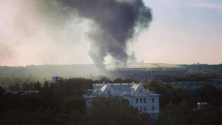 У Москві виникла пожежа на стадіоні «Лужники»