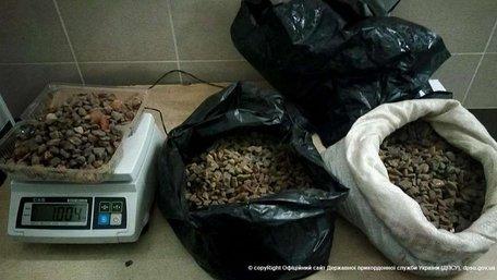 На Волині затримали українця, який намагався вивезти у Польщу 13 кг бурштину