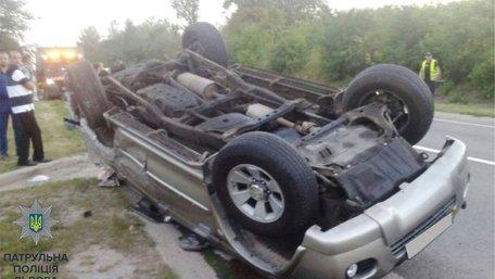 На трасі Київ-Чоп нетверезий водій спричинив ДТП, постраждали діти