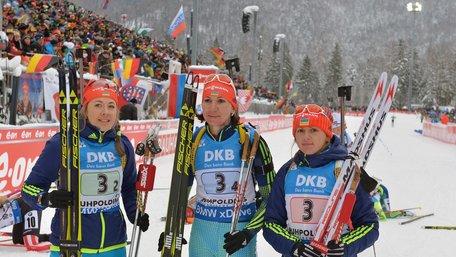 Жіноча збірна України з біатлону завоювала бронзу естафети