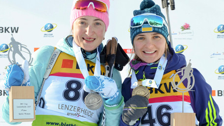 Українські біатлоністки вперше в історії країни здобули дві медалі у гонці Кубку IBU