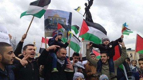 Харківські палестинці вийшли на протест через рішення Трампа стосовно Єрусалима