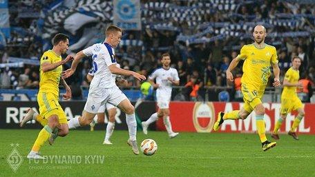 «Динамо» втратило перемогу над «Астаною» у Лізі Європи на останній хвилині матчу