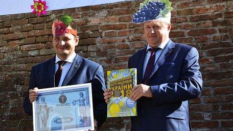Задля рекорду мер Івано-Франківська одягнув на голову паперову вишеньку. Фото дня