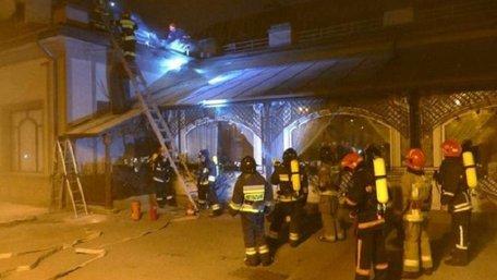 В Івано-Франківську на даху ресторану сталась пожежа