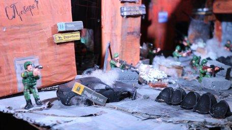 Львівські школярі відтворили в іграшкових фігурках битву за Донецький аеропорт. Фото дня