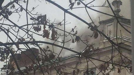 Масштабна пожежа у Львівські обласній клінічній лікарні