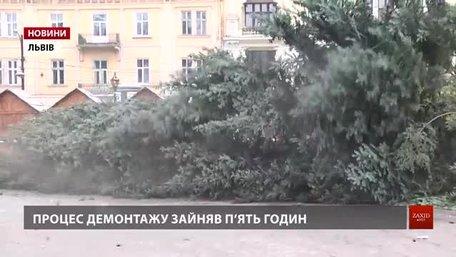 Головну ялинку Львова демонтували