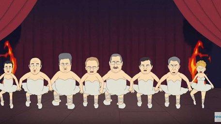 Близький до Порошенка телеканал показав глузливий мультфільм про кандидатів у президенти
