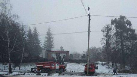 У селі Туринка на Жовківщині вщент згорів дерев'яний Народний дім