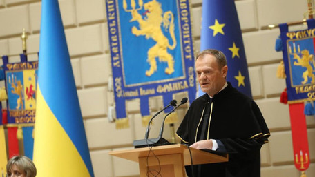 Дональд Туск подякував Андрію Садовому за співпрацю Львова з Ґданськом