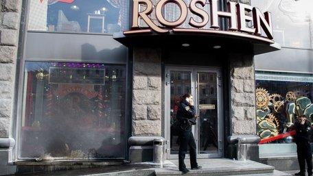 У Києві вдруге за добу зафіксували спроби підпалу фірмових крамниць Roshen