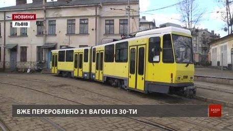 «Львівелектротранс» випускає на маршрути ще більше «берлінських» вагонів