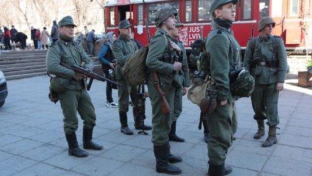 У Львові на вулиці Федорова тривають зйомки історичного фільму «Єва»
