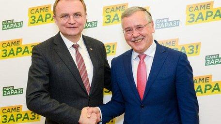 Гриценко заявив, що хотів би бачити прем'єр-міністром Садового