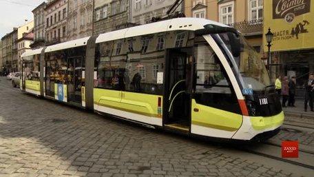 У Львові представили перший трамвай із новим дизайном