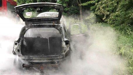 У Городоцькому районі на Львівщині згорів автомобіль