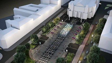 Автори проекту фонтана біля Львівської опери показали його візуалізацію