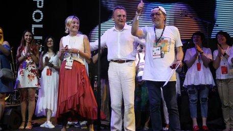 Андрій Садовий вручив «Золоті герби міста» організаторам Leopolis Jazz Fest