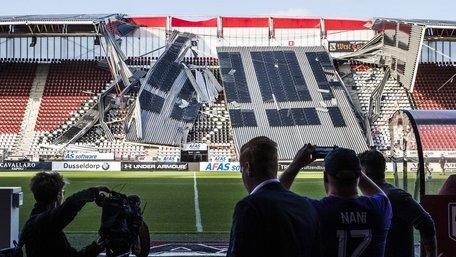 У Нідерландах обвалився дах на стадіоні, де мав грати український футбольний клуб