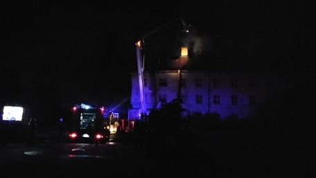 На території колишнього заводу «ЛАЗ» вночі горіла будівля