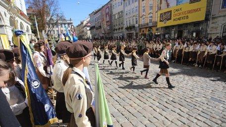 На площі Ринок у Львові відбулось відкриття пластового року