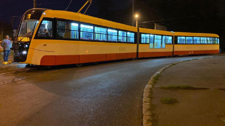 В Одесі випробували найдовший в Україні трамвай