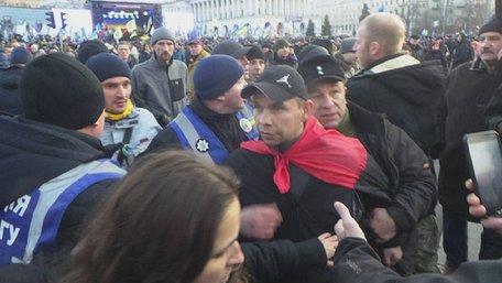 Львів'янина внесли до бази «Миротворця» через кидання яєць у Порошенка