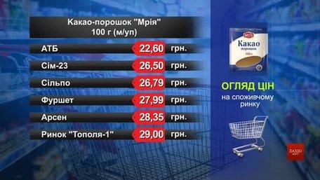Какао-порошок «Мрія». Огляд цін у львівських супермаркетах за 22 січня