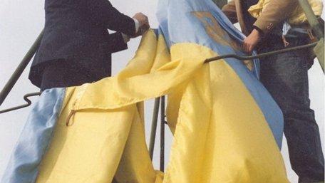 30 років тому на львівській Ратуші підняли український прапор. Відео дня